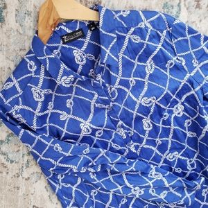 New York & Company Nautical Rope Button Down